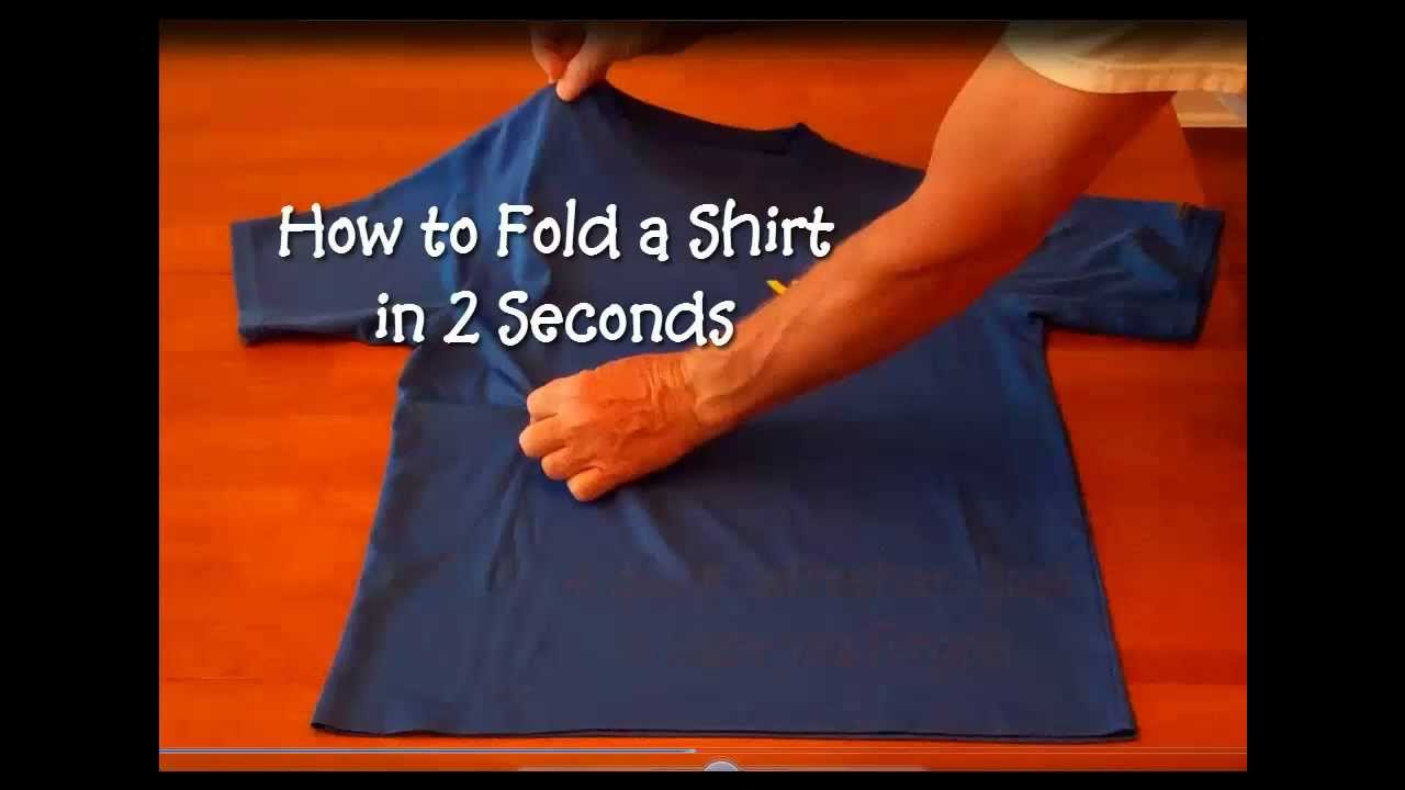 CNA ESSENTIAL SKILLS - How to Fold a Shirt in 2 Seconds ...