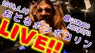 "Ladybeard performs ""Odoru Ponpokorin"" live at Lucid, Asagaya Gamuso..."
