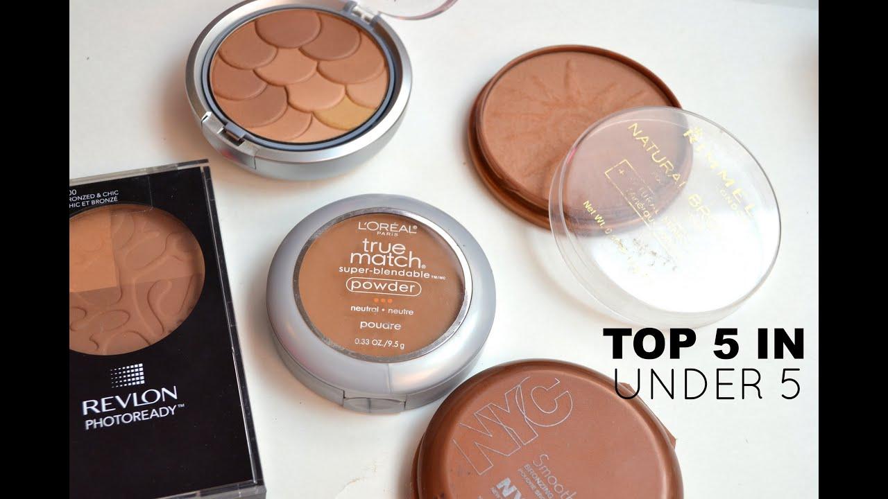 Top 5 In Under 5 Matte Drugstore Bronzers Bailey B