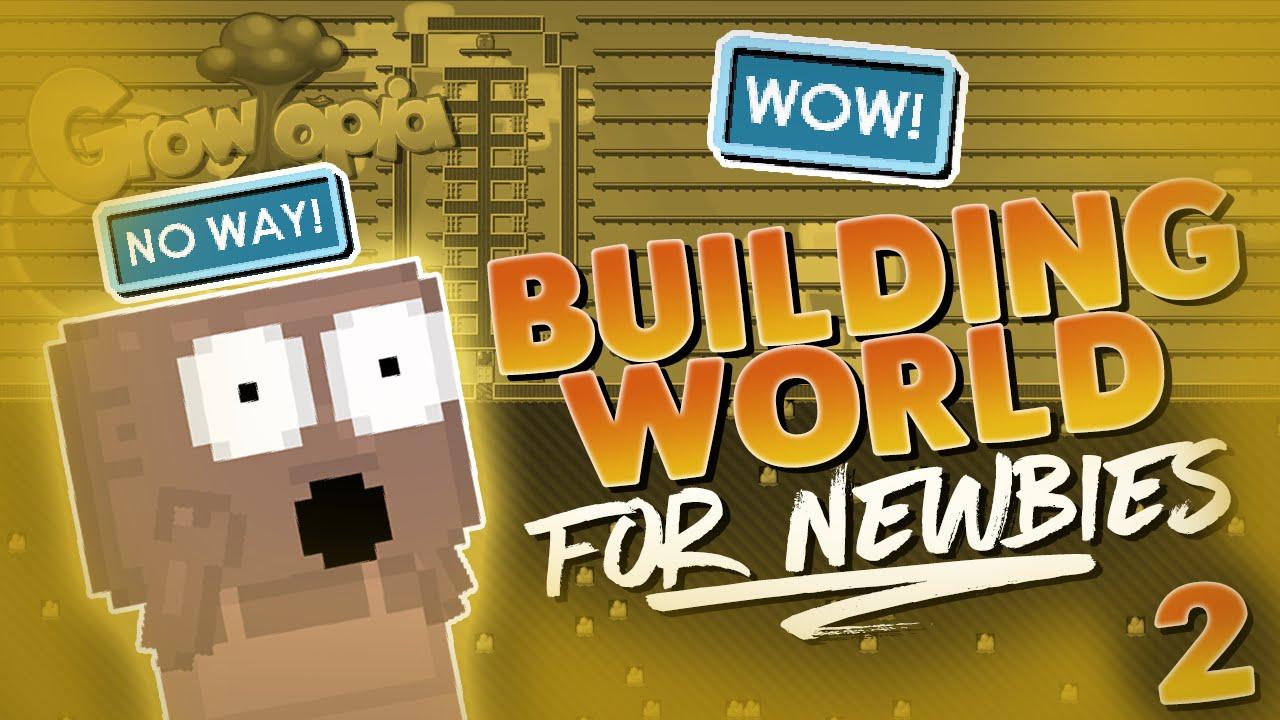 Helping Noobs 2- Building Farm/Storage World For Newbie | Growtopia