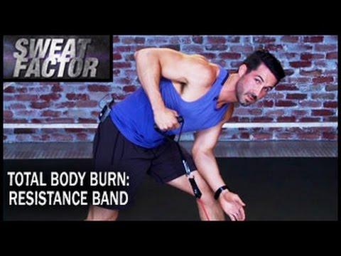 Total Body Burn Resistance Band Training with Drake: Circuit 1Sweat Factor