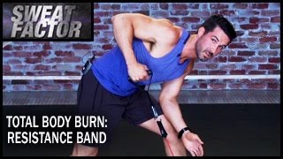 Total Body Burn Resistance Band Training with Drake: Circuit 1- Sweat Factor