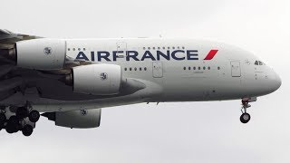 Air France Airbus A380 [F-HPJB] Landing at New York JFK Airport [Full HD]