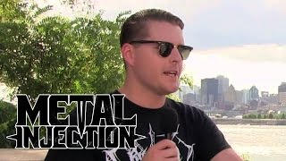 DEAFHEAVEN Interview at Heavy Montreal | Metal Injection