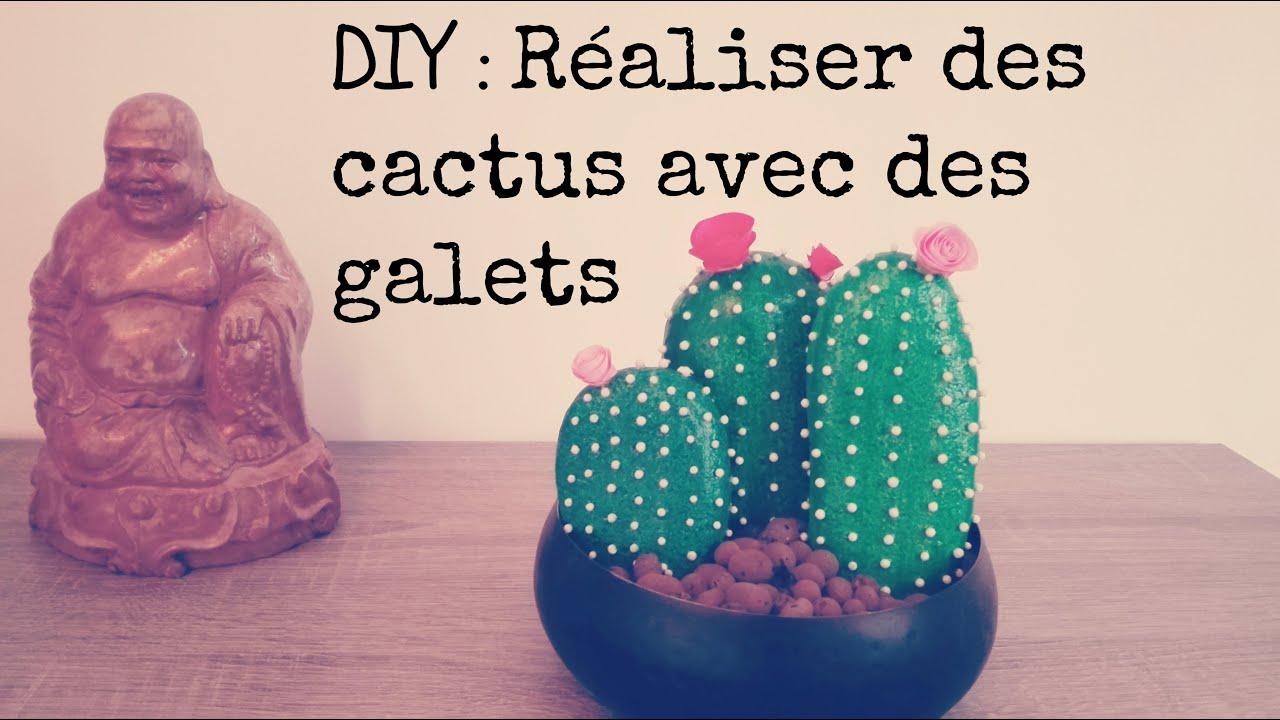 Faire Un Tableau Avec Des Galets easy diy deco to achieve: cactus pebble