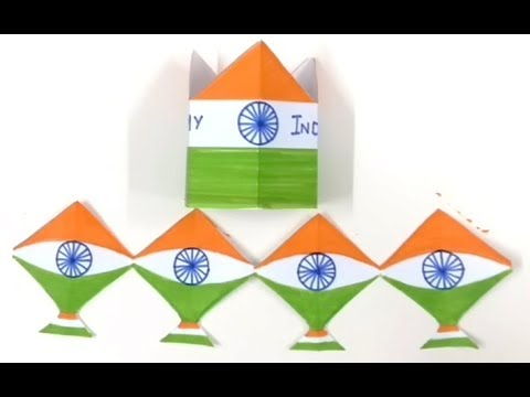 Tri Color Kite Chain and Crown | Happy Independence Day | I Love My India