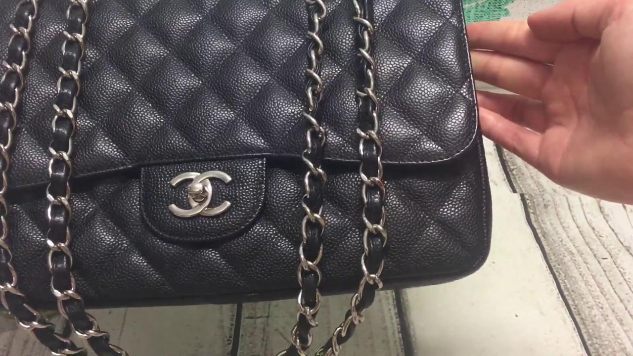 d7bcbd788da5 Chanel Black Caviar Single Flap Jumbo [SOLD] - YouTube