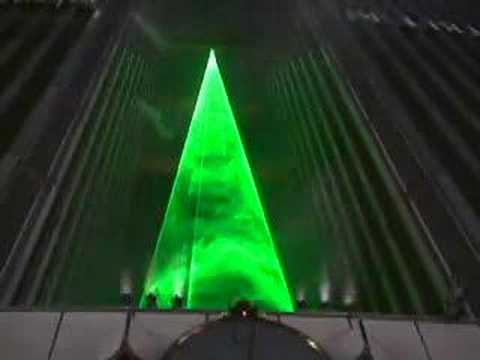 Laser Christmas tree in Tokyo 2007 lc