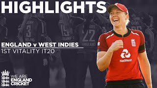England v West Indies - Highlights | Beaumont and Dottin Star In T20 Opener | 1st Vitality IT20 2020