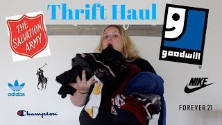 Thrift Haul #2!!! Nike, Adidas, Champion, Polo, and MORE!!