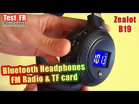 Zealot B19: Test Casque Bluetooth Avec LCD, Radio FM, Slot MicroSD