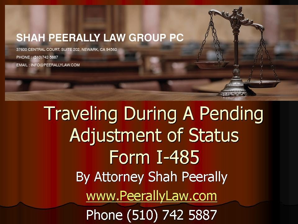 Traveling on a pending Adjustment Status (AOS) | Form I-485 - YouTube