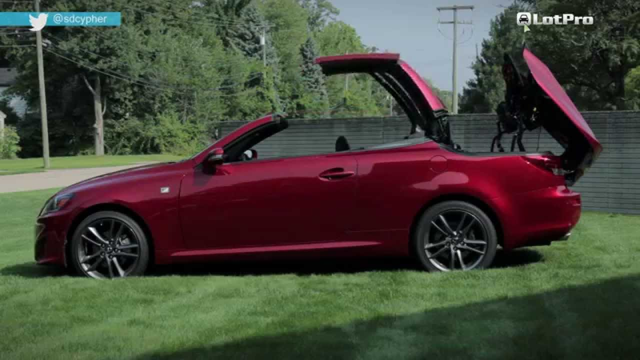2014 lexus is 250c f sport review lotpro youtube. Black Bedroom Furniture Sets. Home Design Ideas