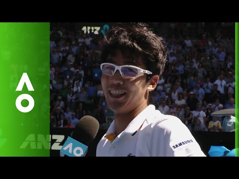 Hyeon Chung on court interview (QF) | Australian Open 2018