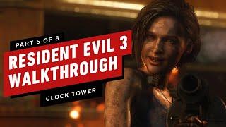 Resident Evil 3 Walkthrough - The Clocktower Boss Fight (Part 5)