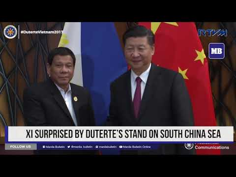 Xi surprised by Duterte's stand on South China Sea