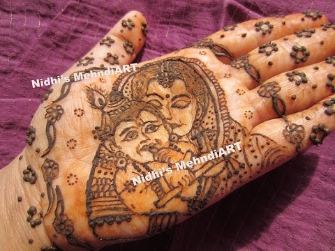 Mehndi For Shrimant : Baal krishna with mother indian baby shower godbharai shrimant