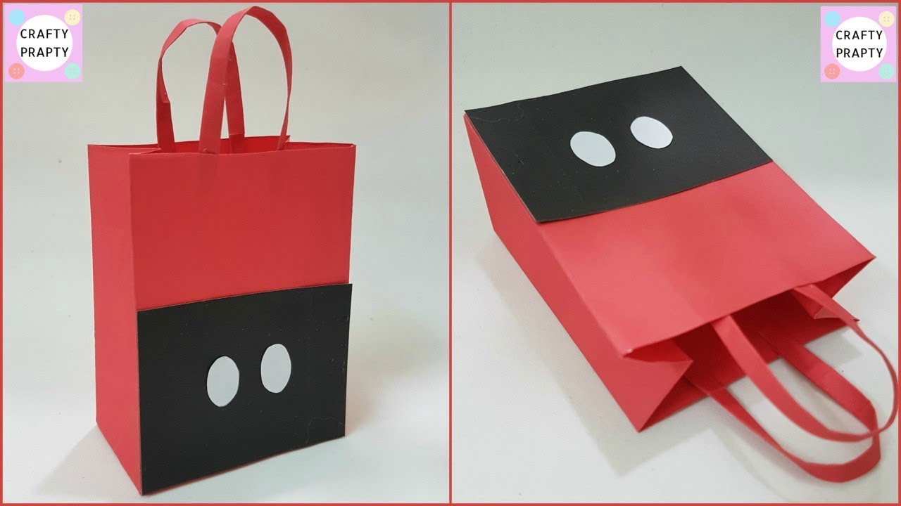 How To Make Paper Bag Diy Mickey Mouse For Treat Goo At Home