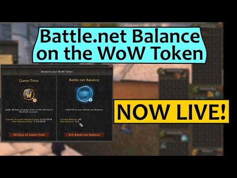 Battle.net Balance for WoW Tokens Live Now!