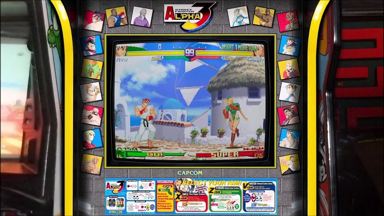 Street Fighter Alpha 3 Realistic Arcade Overlay Collection For