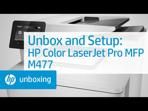 Unboxing and Setting Up the HP Color LaserJet Pro MFP M477 Printer | HP  LaserJet | HP
