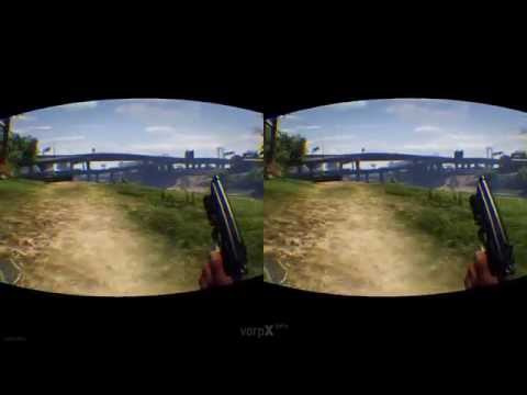 GTA 5 VR OCULUS RIFT DK2 FREE ROAM DRIVING  PC WITH FOV FIX