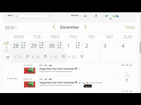 Social Media Marketing Calendar & Sharing Software Tools by SeoSamba