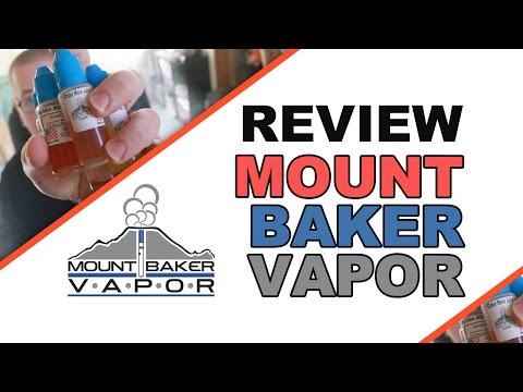 Mount Baker Vapor E Juice Review - 5 flavors!