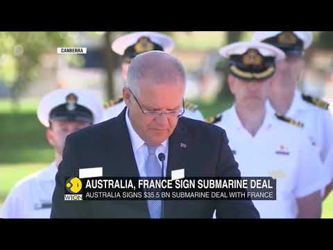 Australia and France sign huge submarine deal