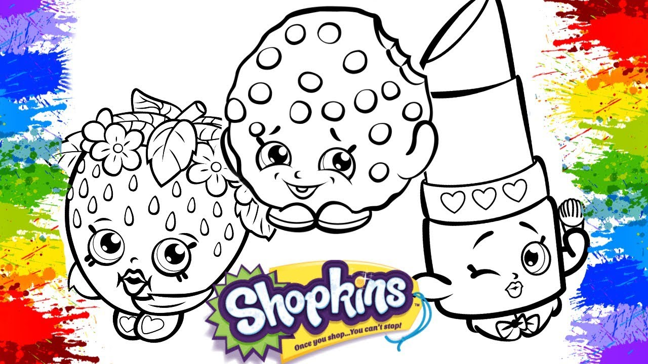 Pinturas Desenhos De Pintar Shopkins Videos Cartoon
