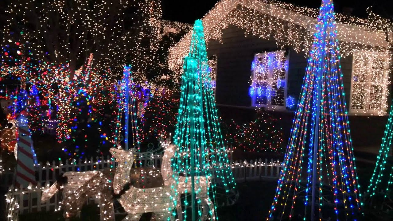 Eucalyptus Street Christmas Lights In San Carlos 2017 Tree Lane Рождество в Калифорнии