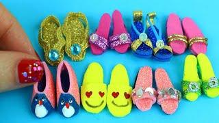 100 DIY Miniature Barbie Shoes - DIY Miniature Shoes for a Barbie Doll