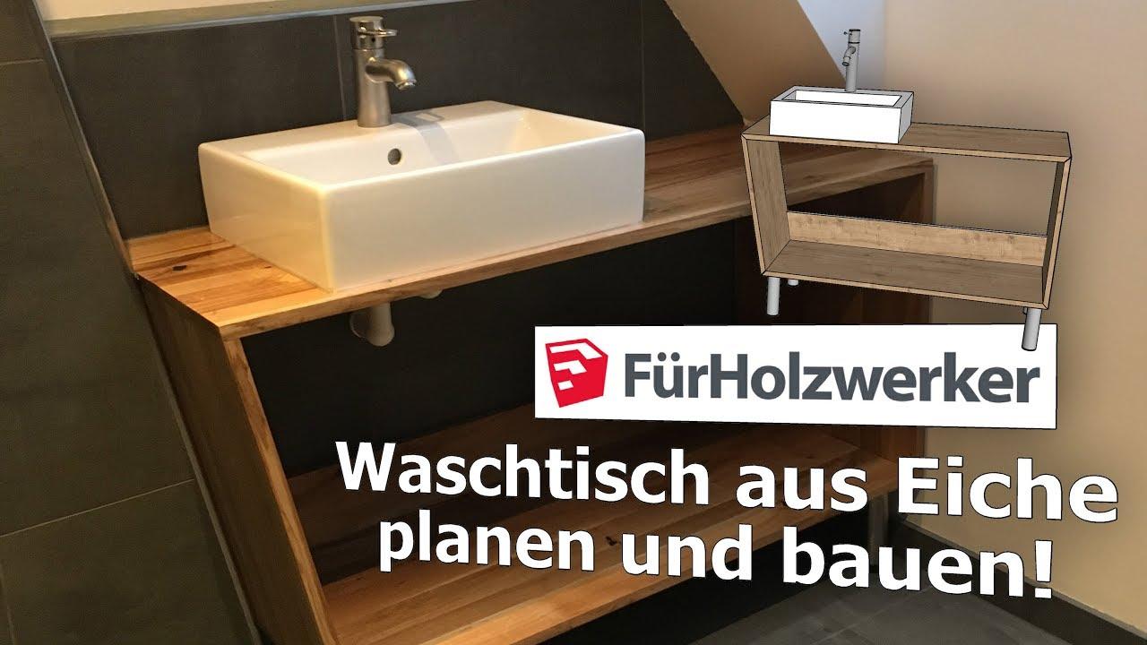 Badezimmer-Unterschrank planen und bauen   Sketchup für Holzwerker