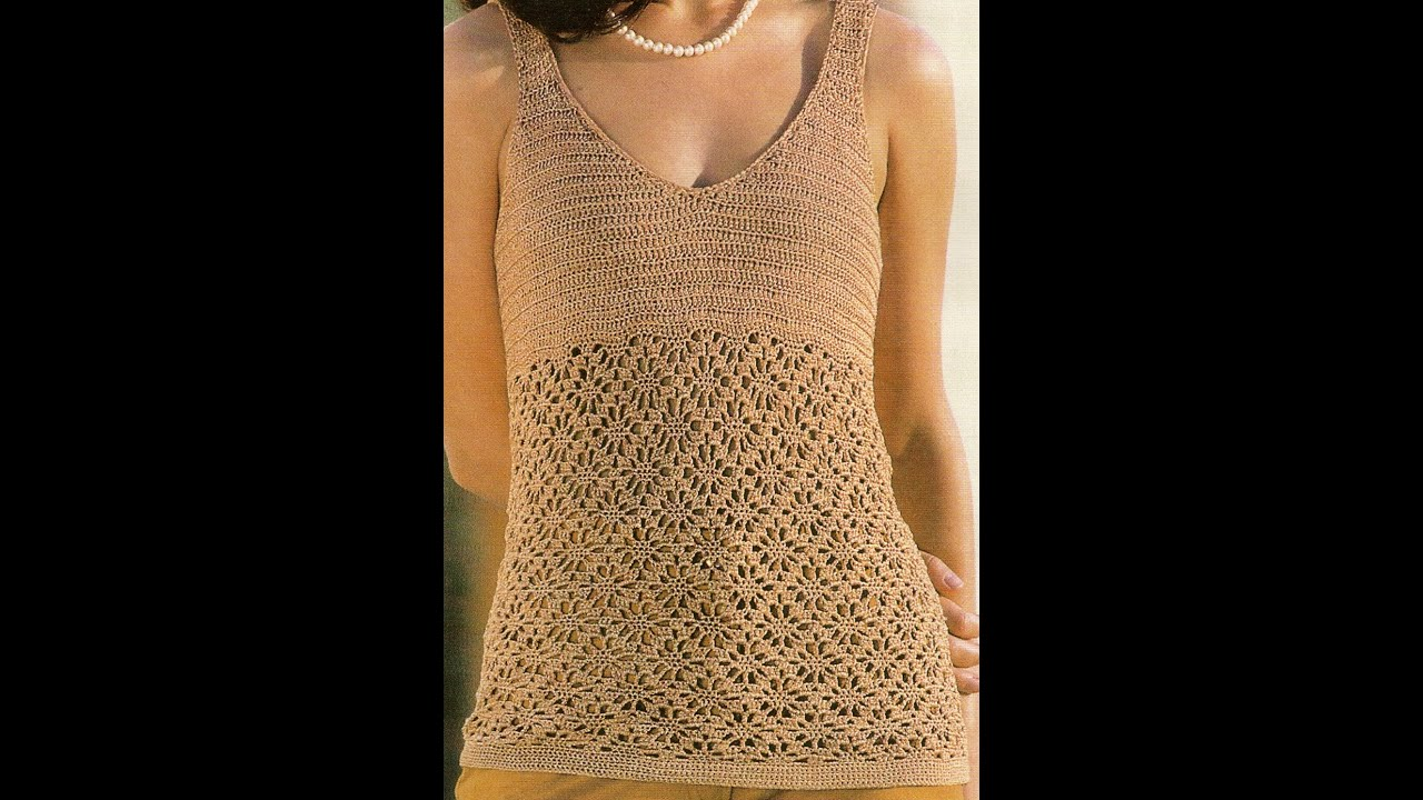 blusa tipo camiseta a crochet muy f cil youtube