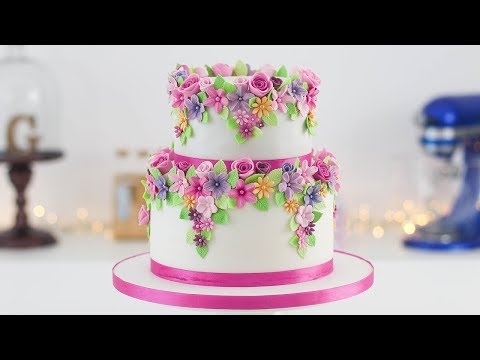 Easy Floral Cake - Tan Dulce