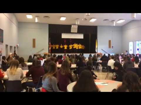 Nancy Campbell Academy students perform at Brescia's International Day of the Girl Celebration