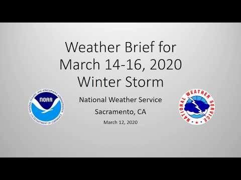Winter Storm Briefing for March 14th - 16th, 2020