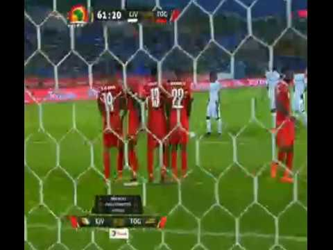 Solomon Kalou Missed free kick | Ivory Coast 0 - 0 Togo | Monday, January 16, 2017 (GMT+3)