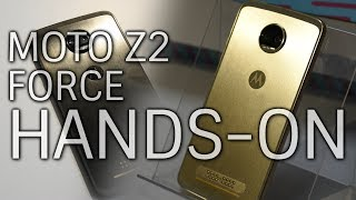 Moto Z2 Force Hands On with GamePad and Moto 360 Camera Mods