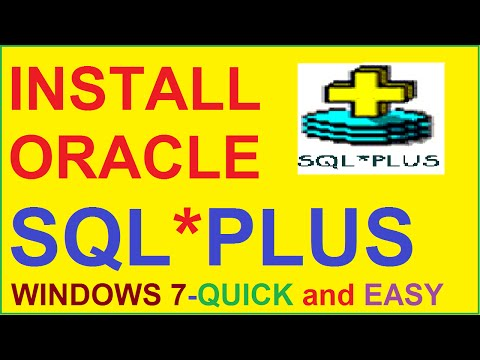 How to Install Oracle 10g database (SQL* PLUS) in windows 7-Quick and Easy
