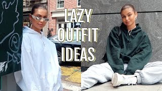 HOW TO STYLE SWEATPANTS | lazy & cute outfit ideas (lookbook)