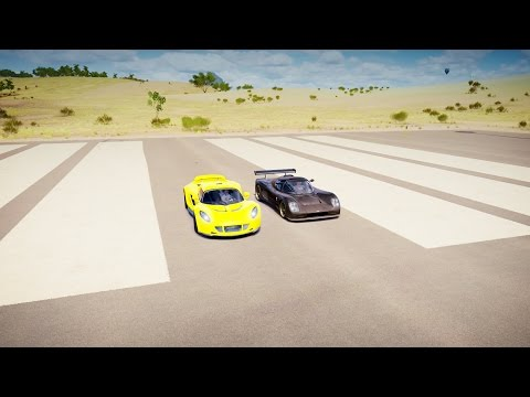 Hennessey VENOM GT vs Ultima EVOLUTION Coupé 1020 - DRAG RACE! Forza Horizon 3