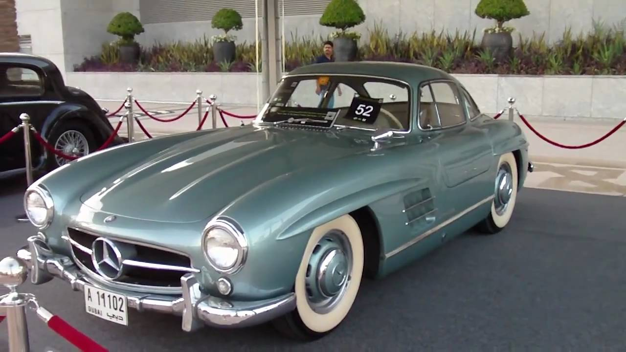 Mercedes Benz Gullwing Dubai Classic Car Show Youtube