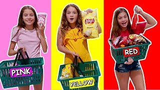 LAST TO STOP EATING THEIR COLOR FOOD  🍠🍋🍎WINS A LOT  💰 | SISTER FOREVER