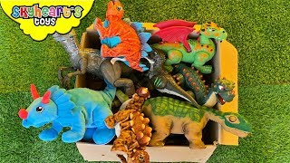 Dinosaur FIGHT in Box! Skyheart Toys Alpha Raptor Blue Ryan Triceratops