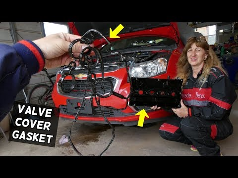 VALVE COVER GASKET REPLACEMENT CHEVROLET CRUZE CHEVY SONIC 1.8 VALVE COVER OIL LEAK FIX