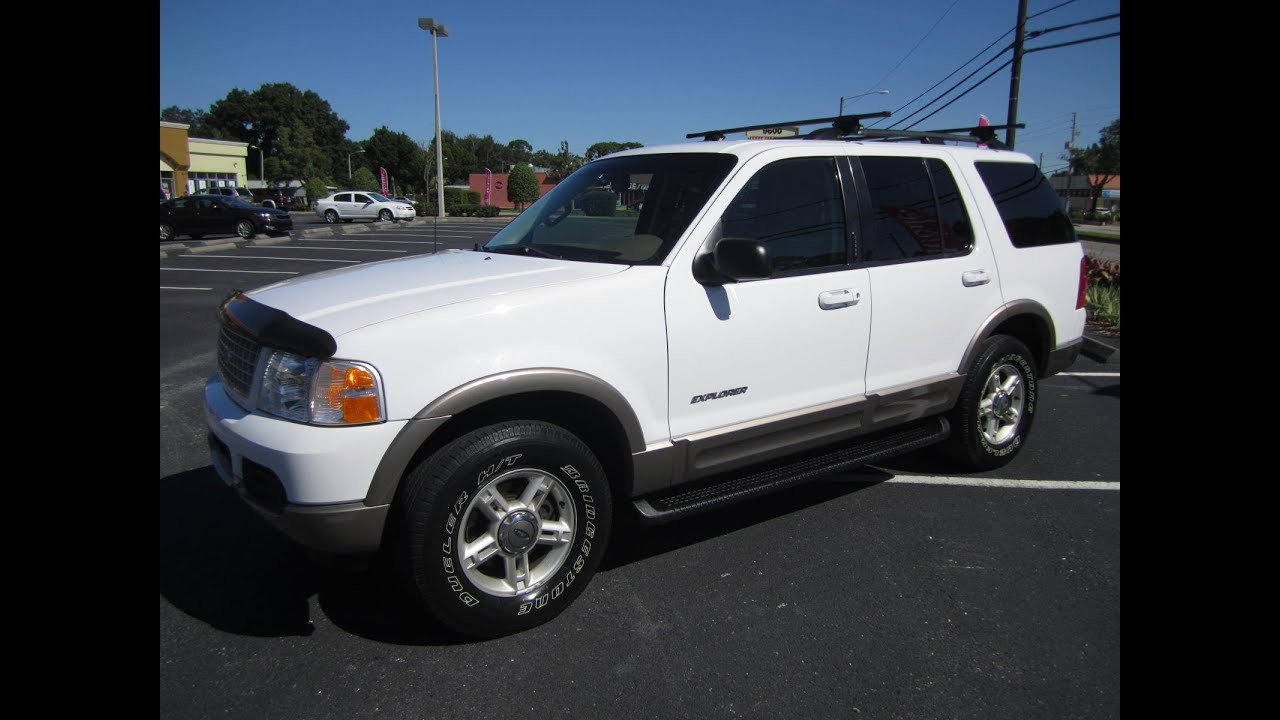 2002 Ford Explorer Xlt >> SOLD 2002 Ford Explorer Eddie Bauer One Owner Meticulous ...