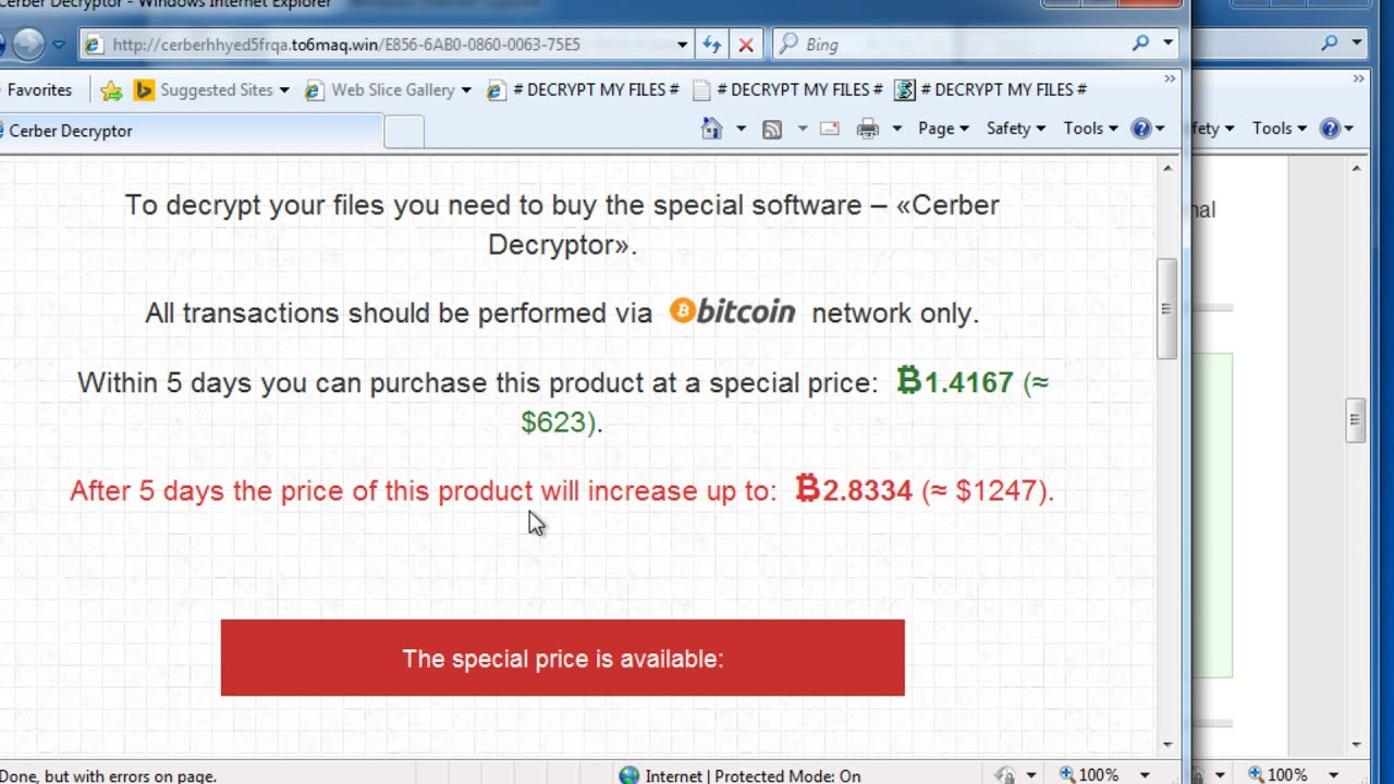 How to remove Cerber Ransomware CERBER File virus removal guide