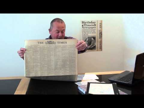Milestone 70th Birthday Gift -  January 1944 Newspaper