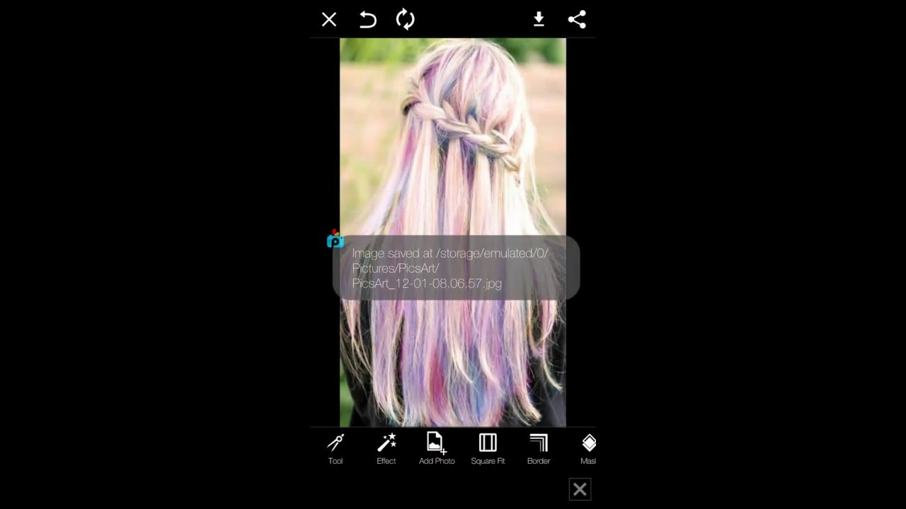 How To Change Your Hair Colour With Picsart Youtube